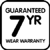 Guaranteed 7 yr wear warranty